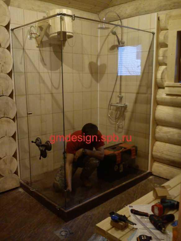 Баня своими руками с душем 938